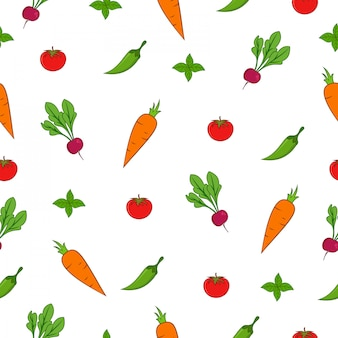 Summer market seamless pattern