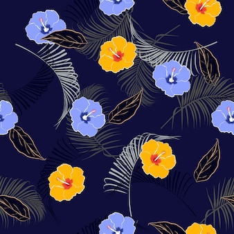 Summer mood seamless floral pattern