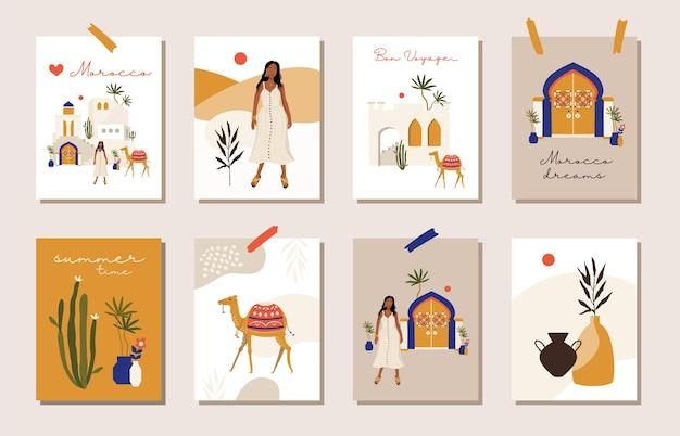 여름 모로코 카드.