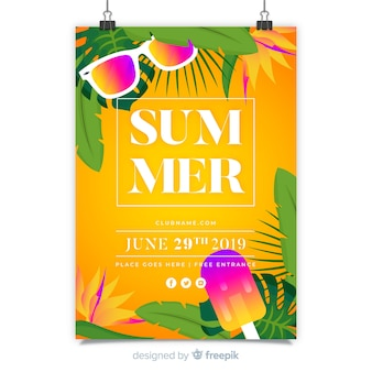 Summer music festival poster template