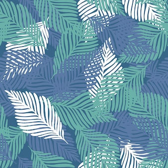 Summer nature jungle print pattern