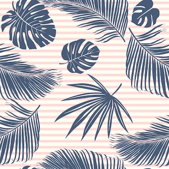 Summer navy tropical forest