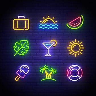 Summer neon sign