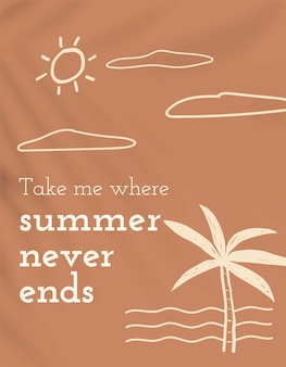L'estate non finisce mai modello vettoriale banner social media modificabile tema vacanza vacation