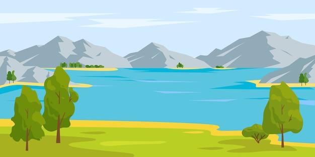 Летний или весенний природный пейзаж