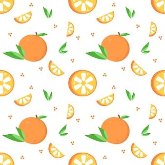 夏のオレンジの柄