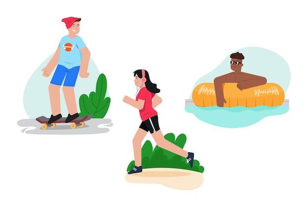 夏の野外活動コレクション