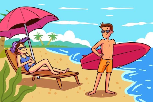 Concetto di attività all'aperto estive