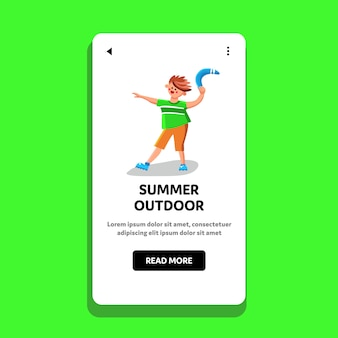 Summer outdoor playing device hold teen
