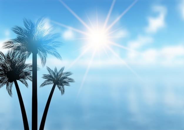 Summer palm tree background