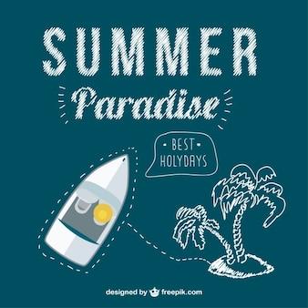 夏の旅行の概念ベクトル