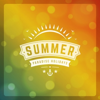 Summer paradise holidays design