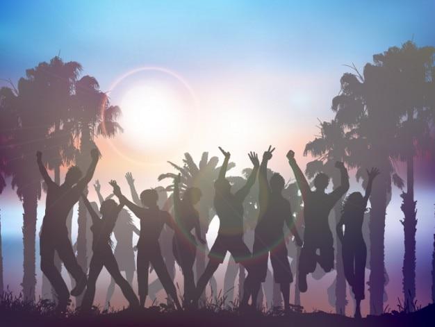 Лето партия фона