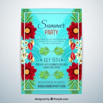 Летняя вечеринка с цветами
