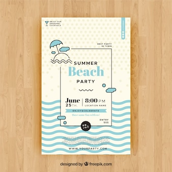 Summer party flyer to celebrate season