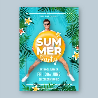 Summer party flyer template concept