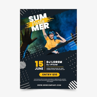 Summer party flyer template event