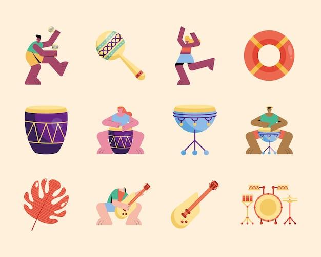 Иллюстрация летней вечеринки