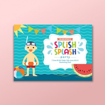 Summer party invitation card