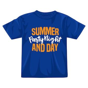 夏のパーティーの夜のtシャツのデザイン