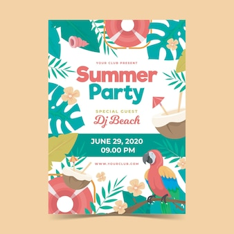 Summer party poster concept