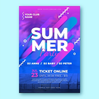 Summer party poster template concept