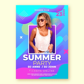 Summer party poster template design