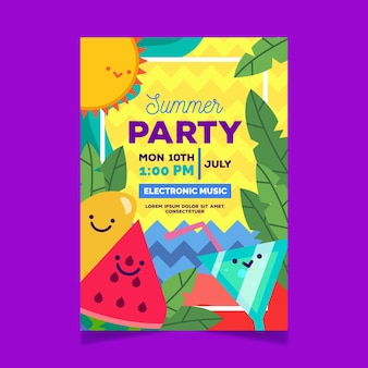Летняя вечеринка с коктейлями и арбузом