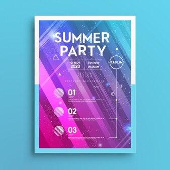 Летний плакат партии