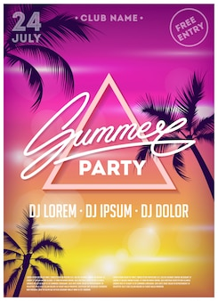 Summer party poster.