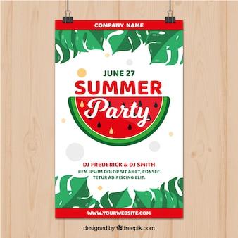 Летний партийный плакат