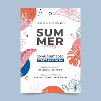 Summer party template theme
