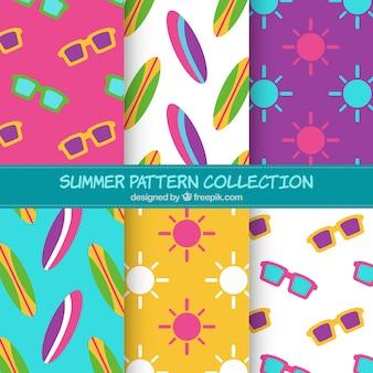 夏のパターンの背景コレクション