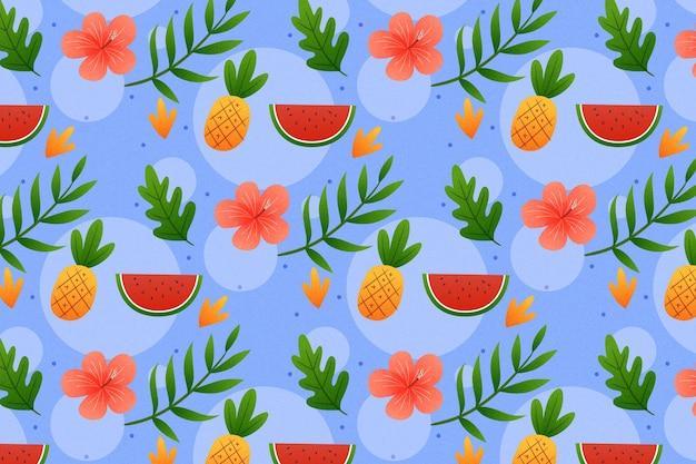확대 / 축소에 대 한 여름 패턴 배경