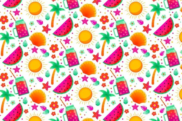 여름 패턴-확대 배경