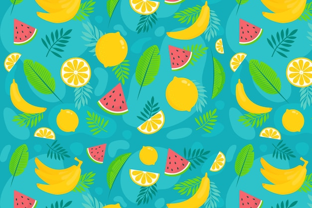 Summer pattern background for zoom concept