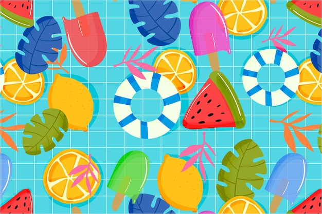 Summer pattern background for zoom theme