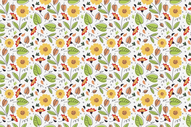Summer pattern background for zoom with sunflowers