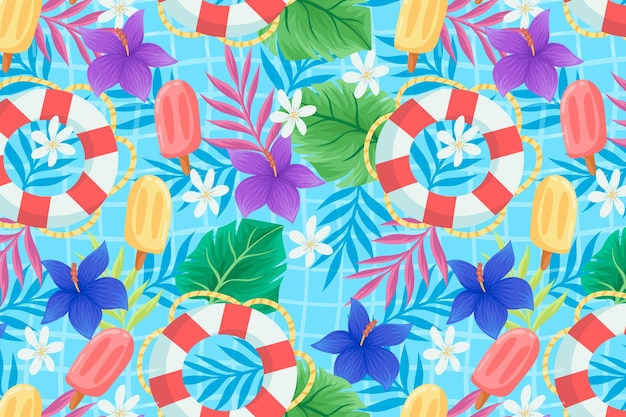 Summer pattern - background for zoom