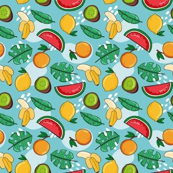 여름 패턴 컬렉션 개념