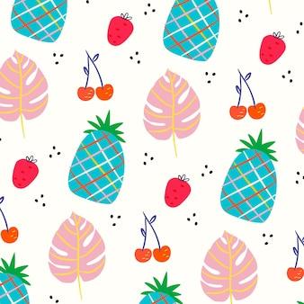 여름 패턴 컬렉션 스타일