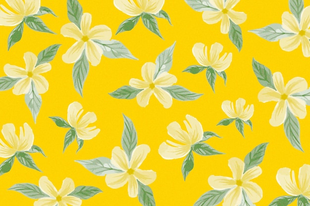 Summer pattern design with flowers