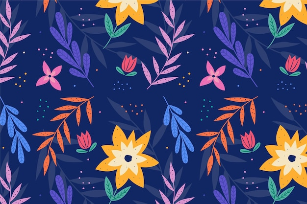 Summer pattern wallpaper for zoom