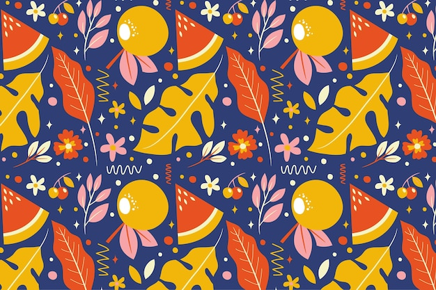 Summer pattern wallpaper