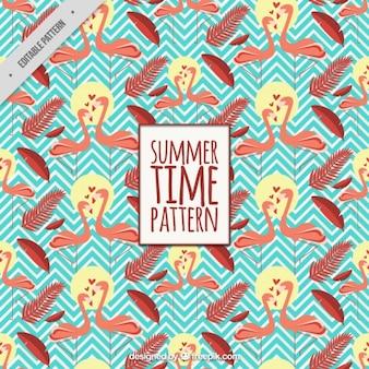 플라밍고와 여름 패턴