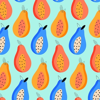 Summer pattern with fruits