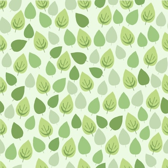 Summer pattern with monochrome green leaf