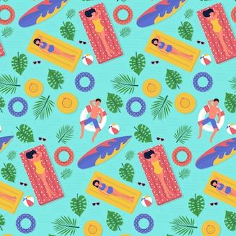 물으로 여름 패턴