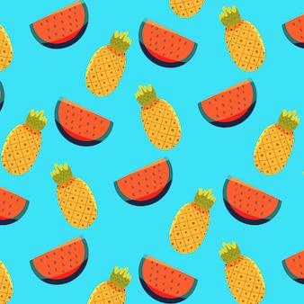 수박과 파인애플 여름 패턴