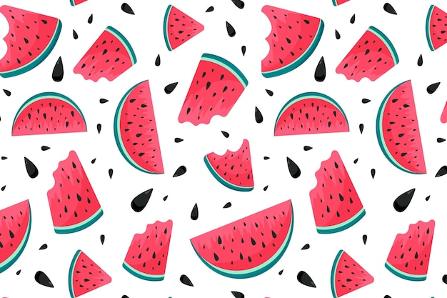 Summer pattern with watermelon